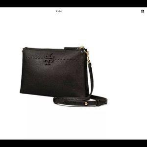 Tory Burch Mcgraw Top Zip Crossbody Leather Bag